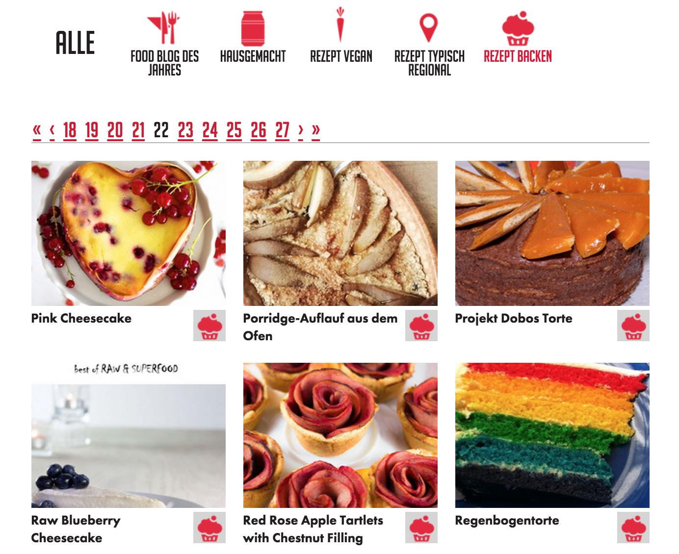 Köstliche Fundgrube: die Food Blog Galerie