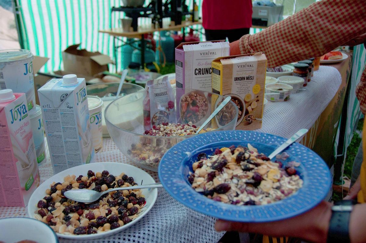 Veganes Frühstück mit VERIVAL beim WASSERfest
