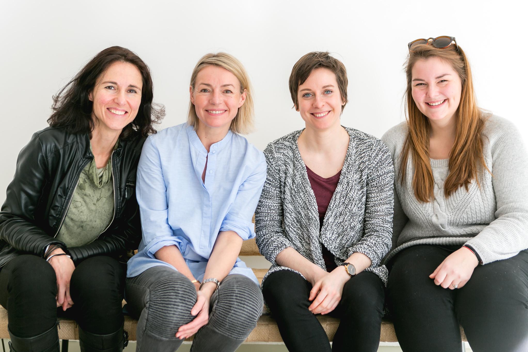 Die Frühaufsteher vom Verival-Team: Syliva, Alexandra, Sarah und Mara