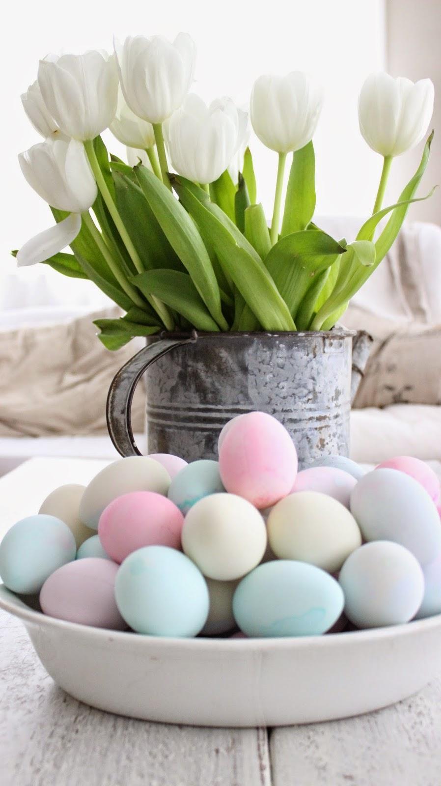 Pastel Eggs © myrusticfarmhouse via Pinterst