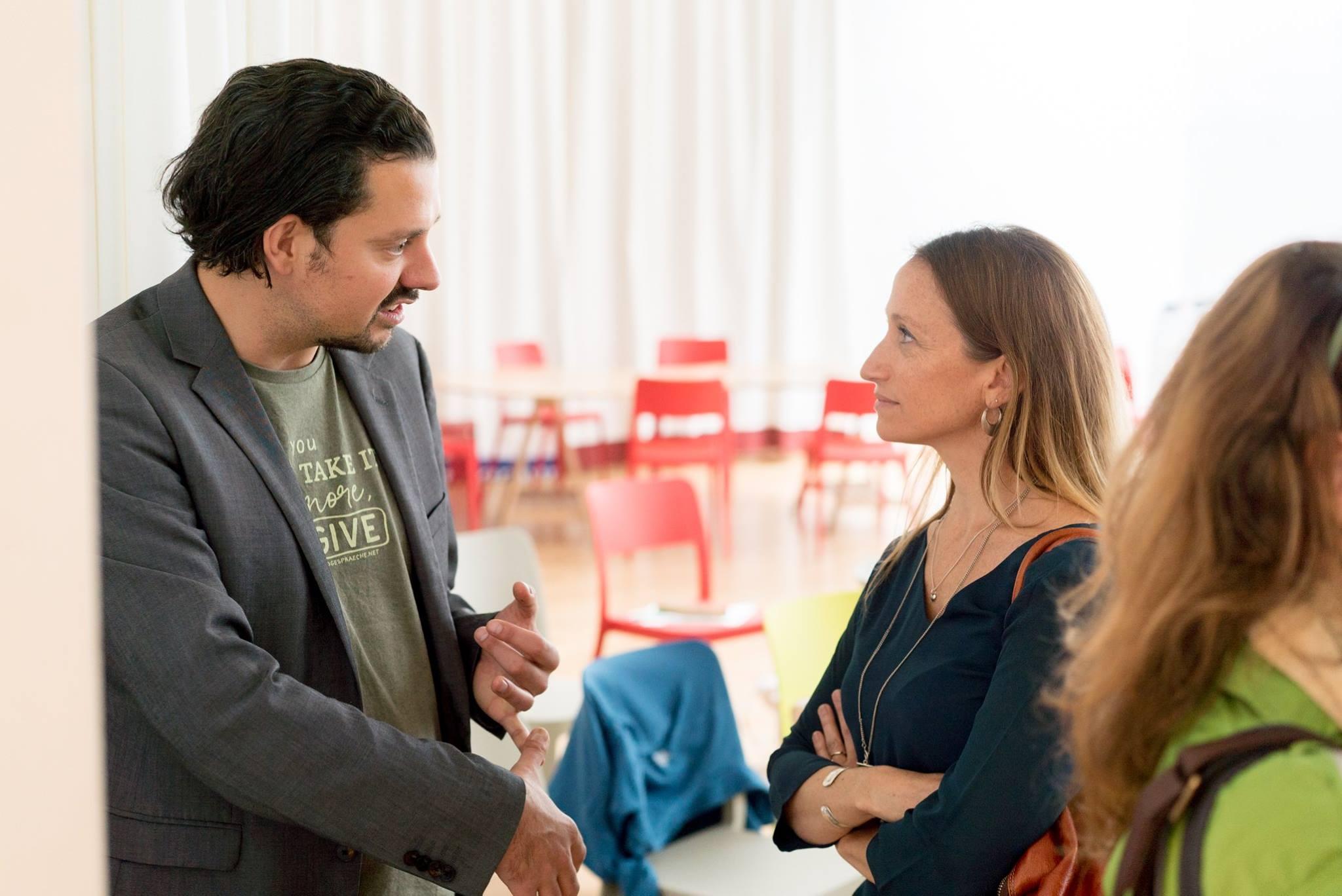 Adam Pawloff (Erdgespräche) & Céline Cousteau © Impact HUB Vienna