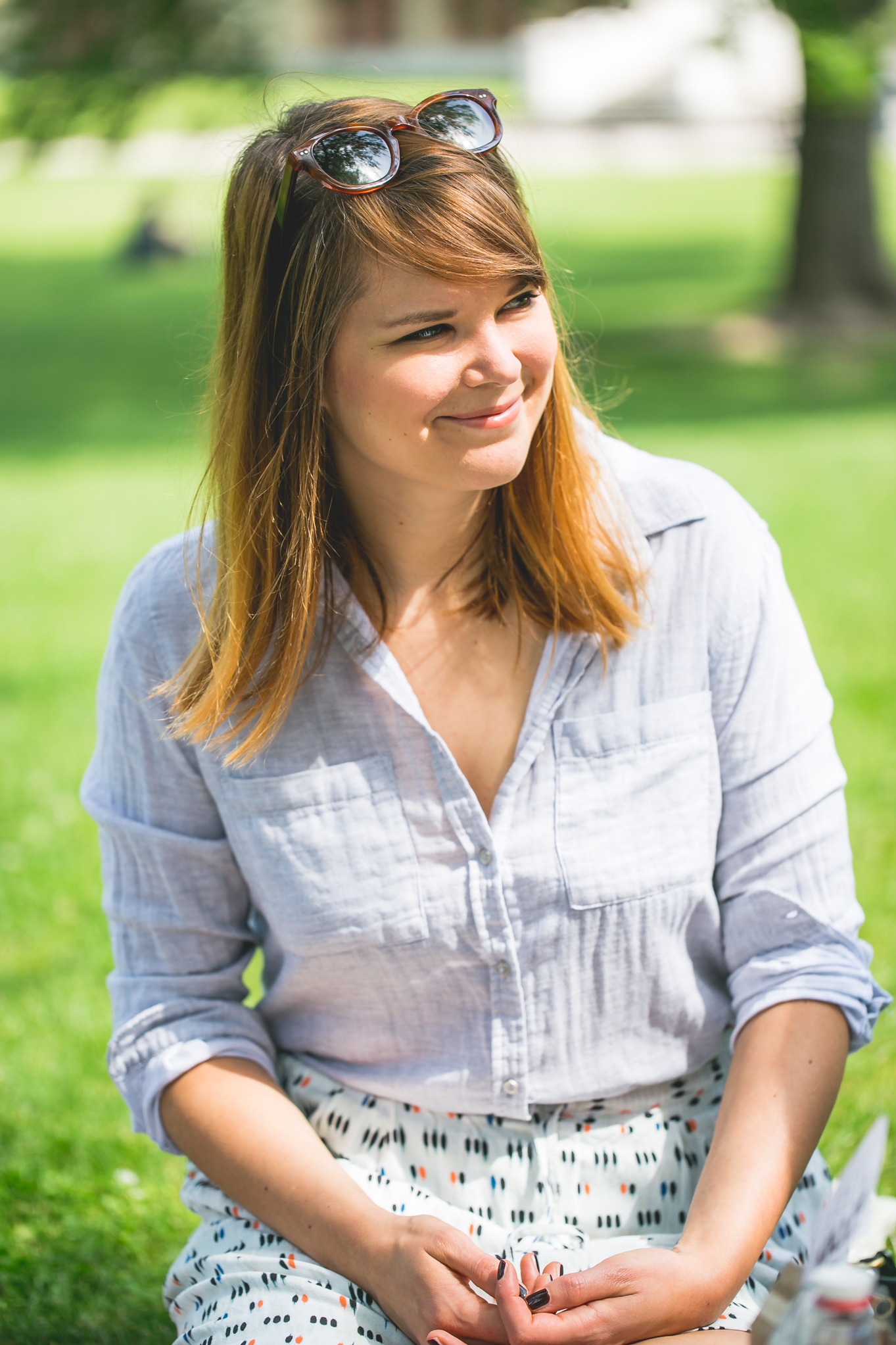 Lisa hat zum Picknicken gerne viel Platz © Florence Stoiber