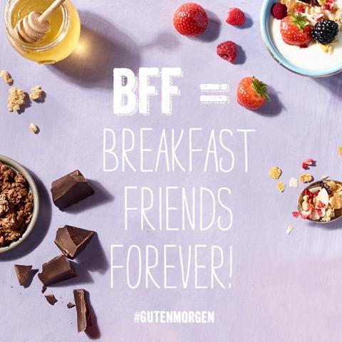 Mit guten Freunden ist besser frühstücken!