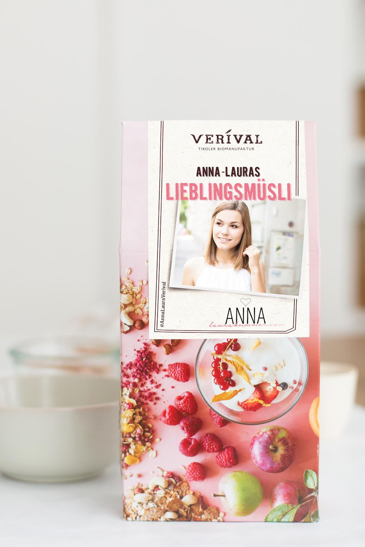 Ab sofort im Verival Onlineshop erhältlich: Anna-Lauras Lieblingsmüsli