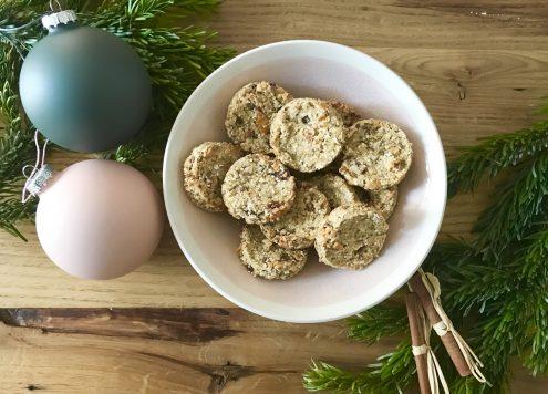 Porridge-Taler als Weihnachts-Kekse