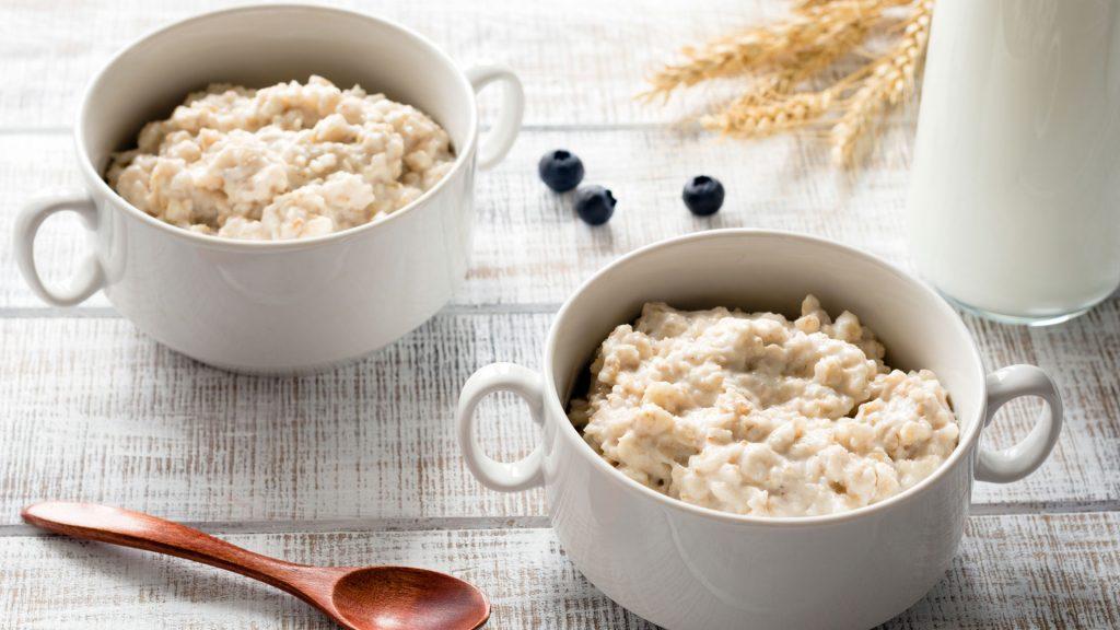 Porridge im Topf
