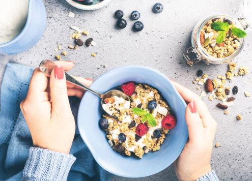 Haferflocken zum Frühstück - langfristige Energie