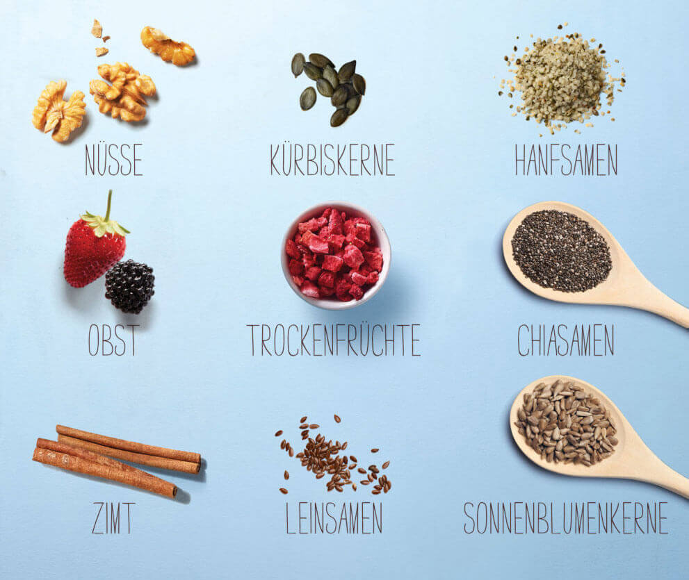Overnight Oats Toppings von Verival
