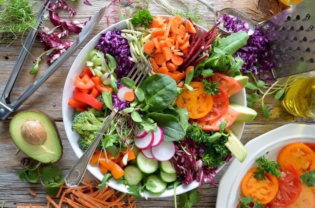 vegetarischer Salat
