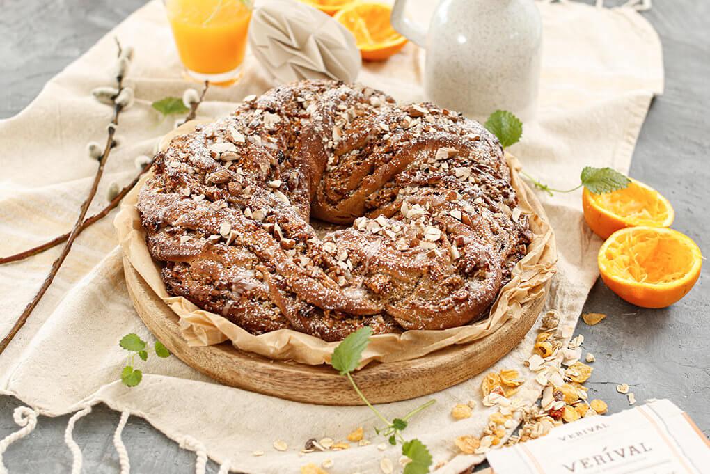 Osterkranz mit Verival Kokos-Aprikose-Müsli