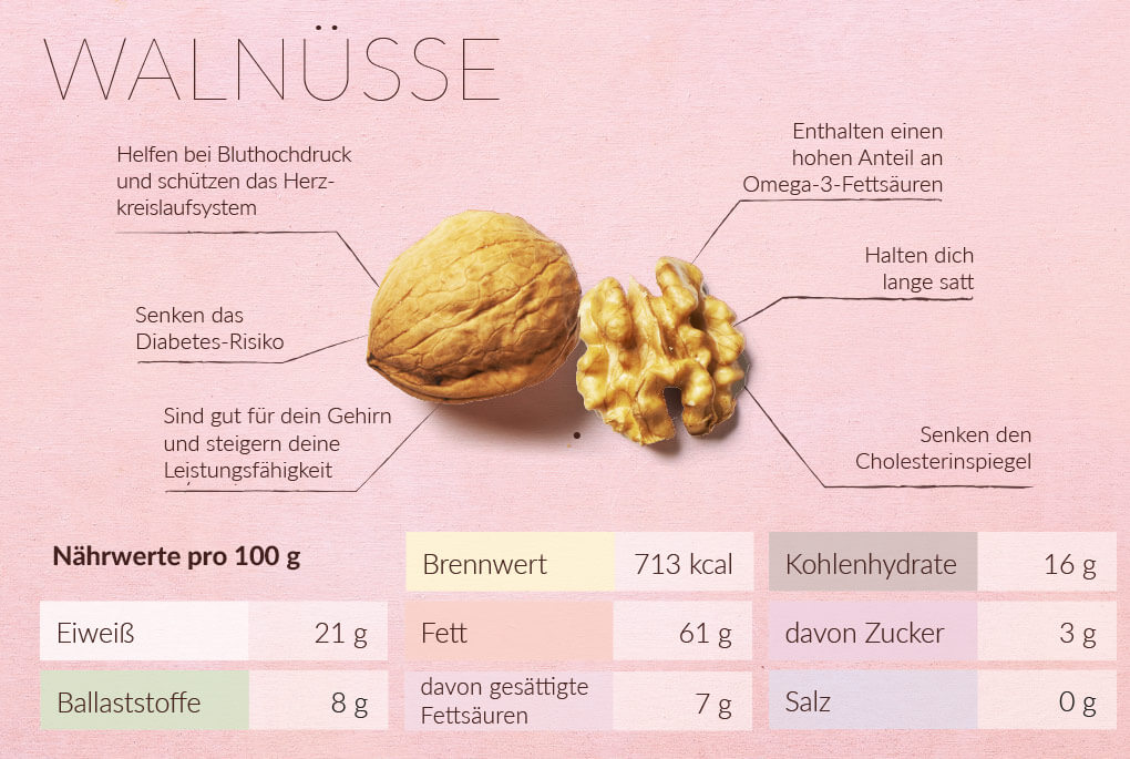Walnüsse Infografik