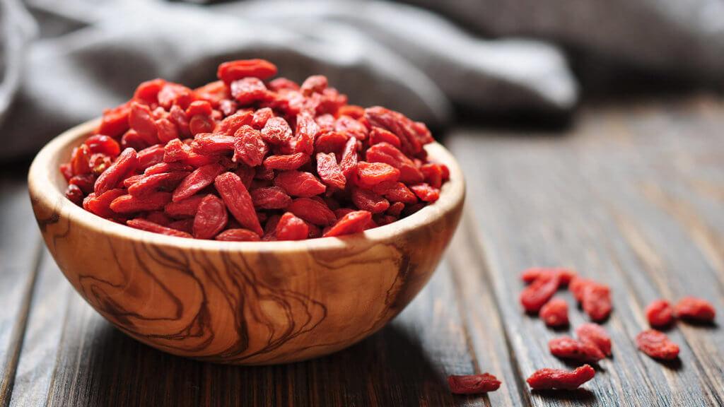 Goji-Beeren für gesundes Frühstück mit Verival