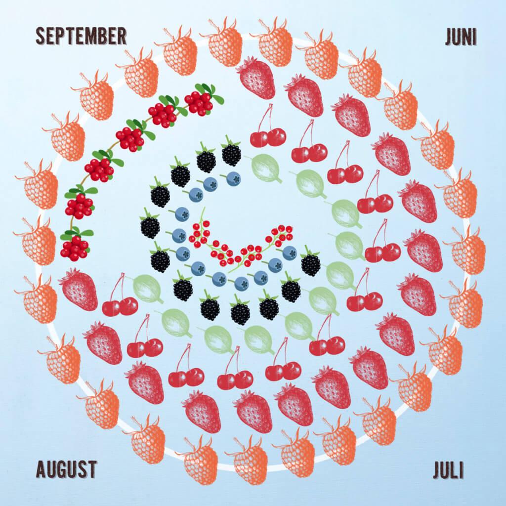 Calendario della stagione delle bacche