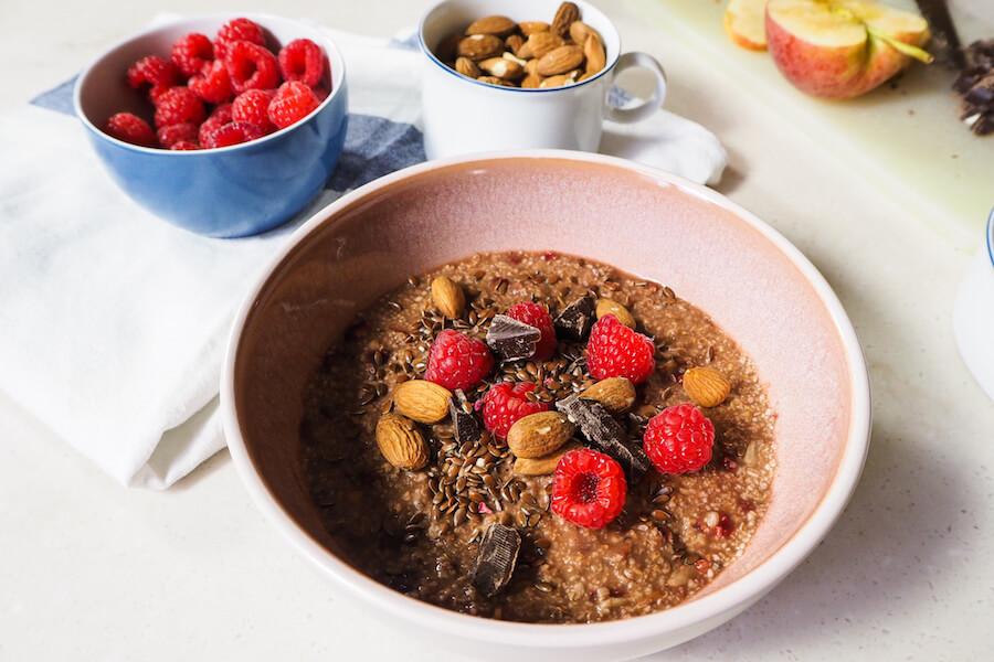 mandeln topping porridge