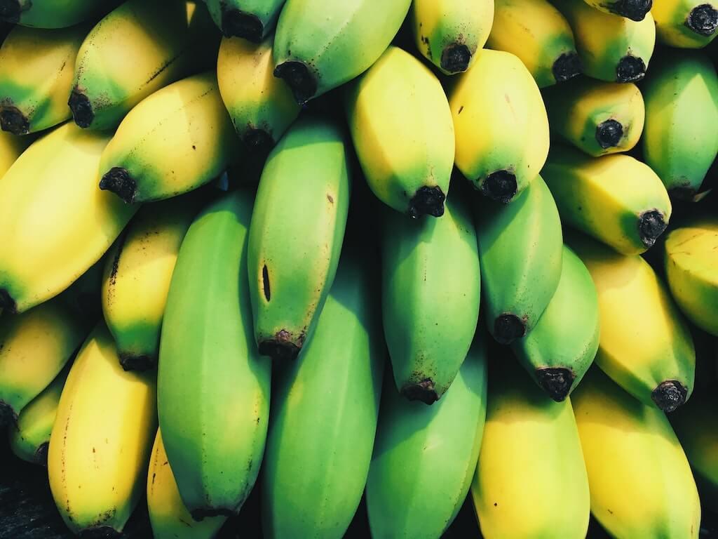 banane fresche immature