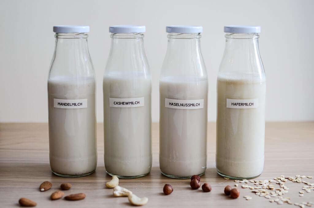 Pflanzendrink als Porridge Basis