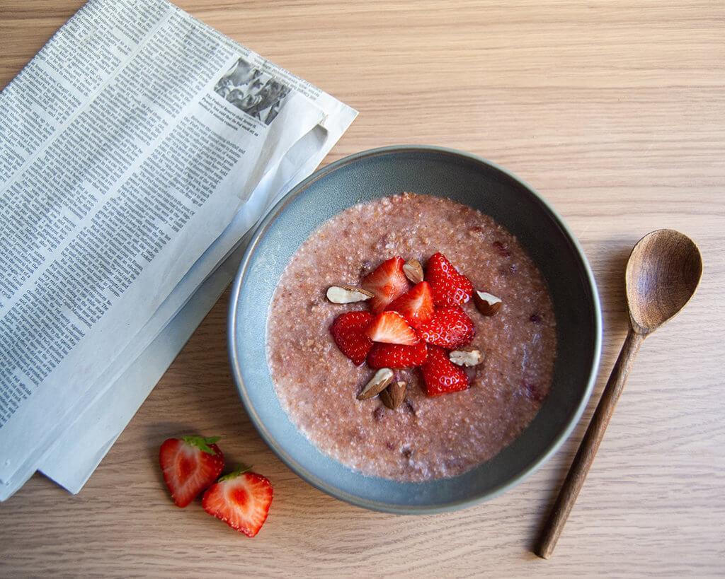 Verival farro porridge