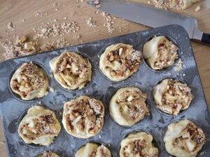 Rezept Porridge Apfelschnecken Zubereitung