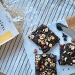 Rezept nussige Porridge Brownies Rezeptimage