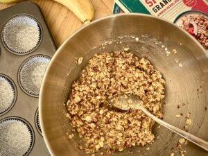 Rezept Lower Carb Granola Muffins Teig