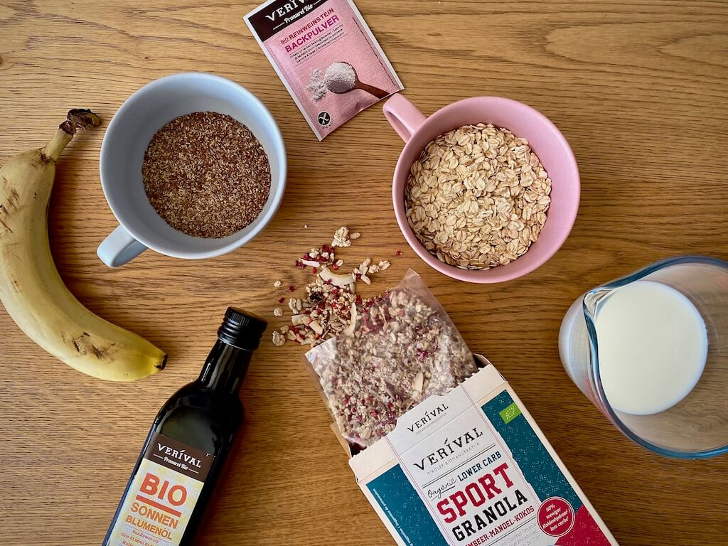 Rezept Lower Carb Granola Muffins Zutaten