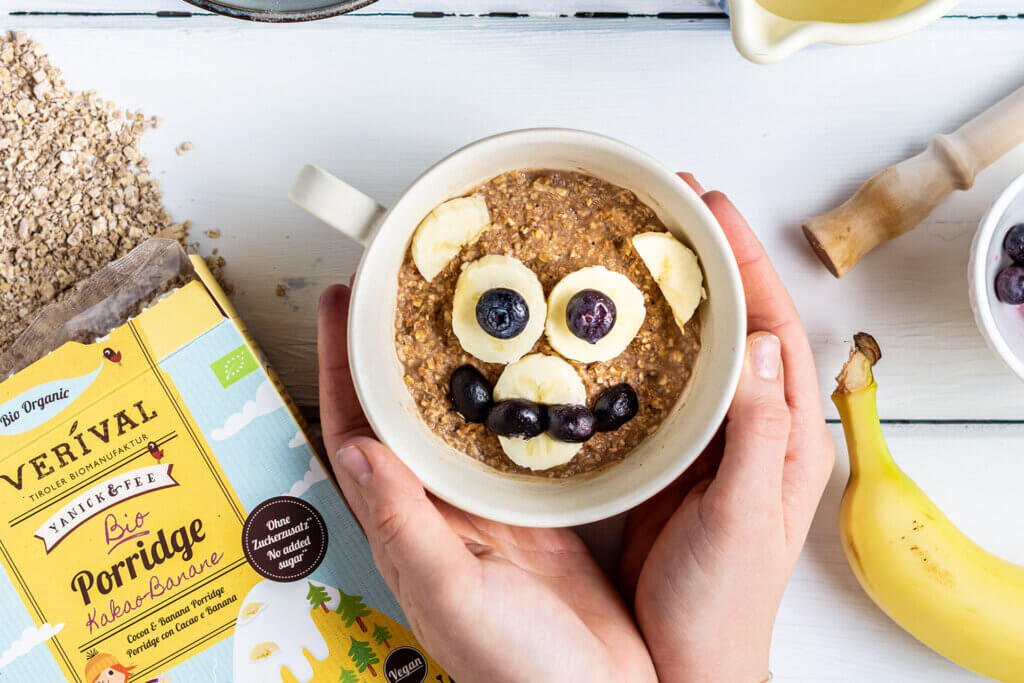 Porridge & muesli per bambini come colazione salutare con meno zucchero