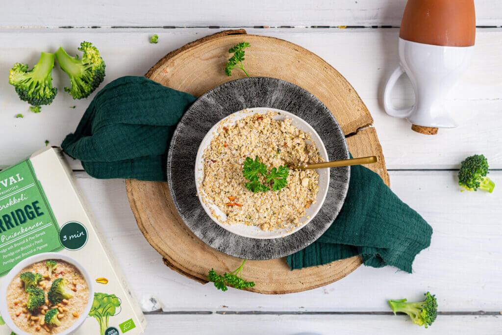 Brokkoli und Porridge sind ideale Kohlenhdratelieferanten