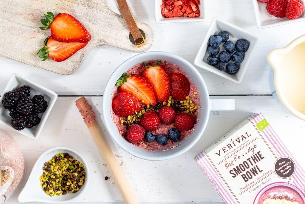 Ausgewogene Ernährung inklusive Ballaststoffe für eine gesunde Darmflora