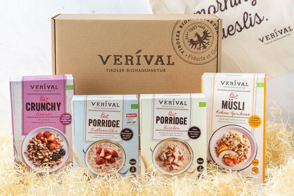 Gesunde VERIVAL Produkte ohne zugesetzten Zucker