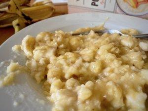 Rezept Mandel-Porridge Cookies mit Honig Bananen zerdrückt