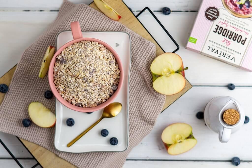 Leckeres Porridge im veganen adventskalender von VERIVAL