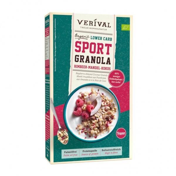 Lower Carb Sport Granola Himbeer-Mandel-Kokos