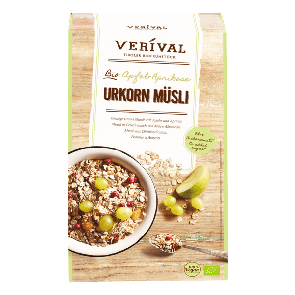Heritage Grains Muesli with apples and apricots