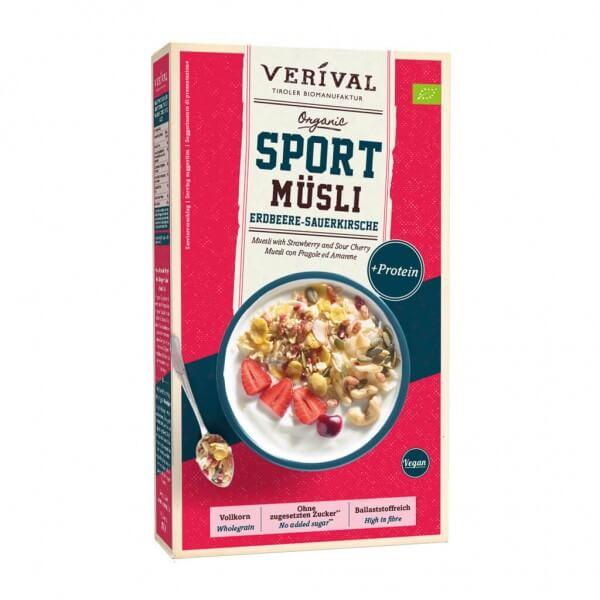 Sport Protein Müsli Erdbeere-Sauerkirsche