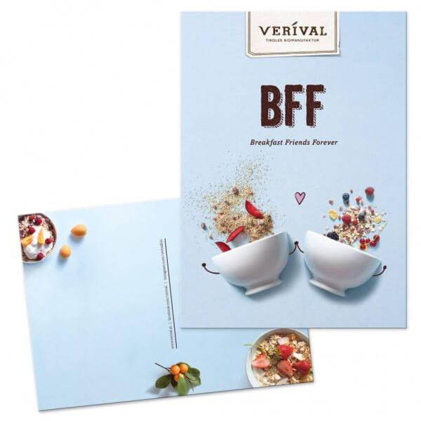 """Karte """"Breakfast Friends Forever"""""""