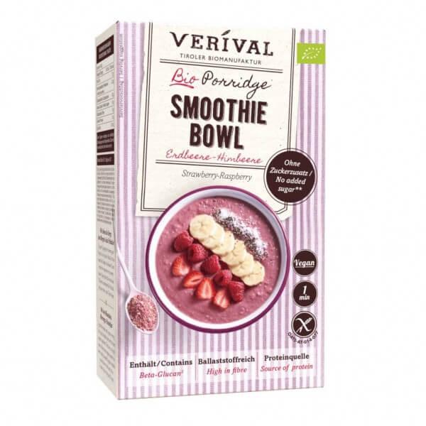 Erdbeere-Himbeere Porridge Smoothie Bowl