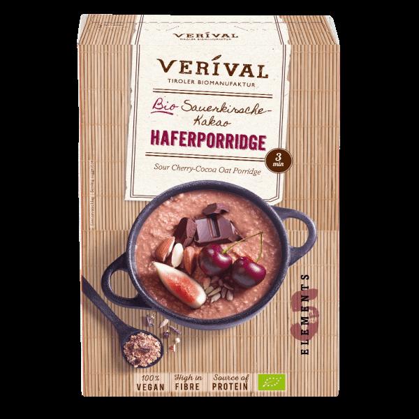 Sauerkirsche-Kakao Haferporridge